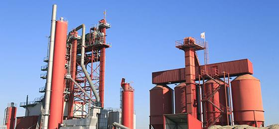 The picture shows a cement plant.